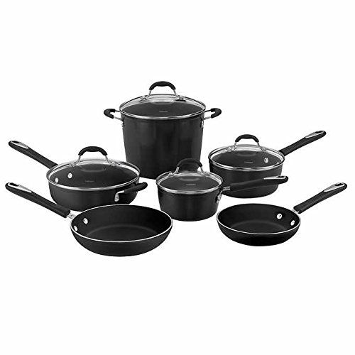 Cuisinart Greenchef Ceramic Nonstick Cookware 10piece Set Black Want To Know More Ceramic Non Stick Cookware Set Stainless Steel Ceramic Nonstick Cookware