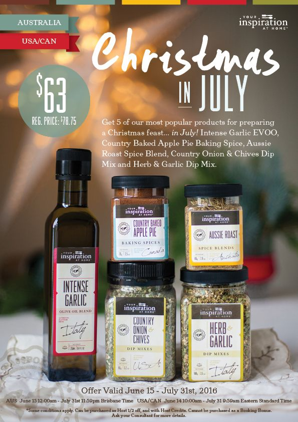 Get the taste of Christmas in July for only $63AUD.  July 2016