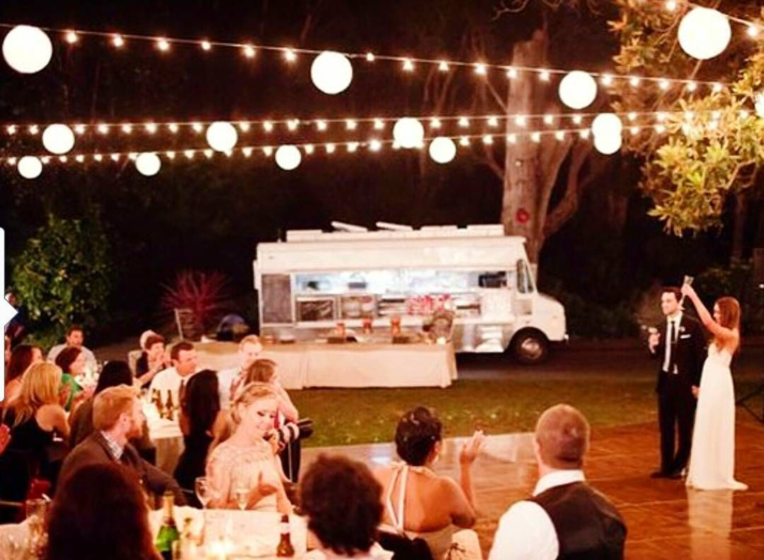 This couple hired a food truck to cater their #wedding?