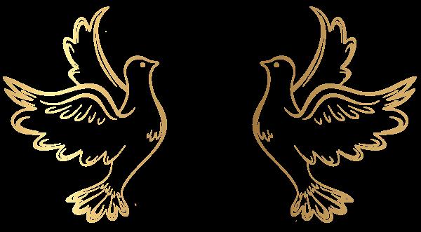Gold Doves Decoration Transparent Png Clip Art Image Cajas De Anillo Marcos Bordes