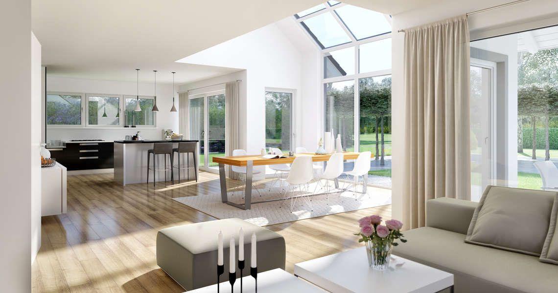 Kern-Haus Familienhaus Maxime Wohnzimmer Häuser und grundrisse - offene kuche wohnzimmer grundriss