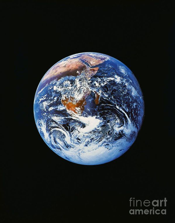 Full Earth From Space Art Print by Stocktrek Images
