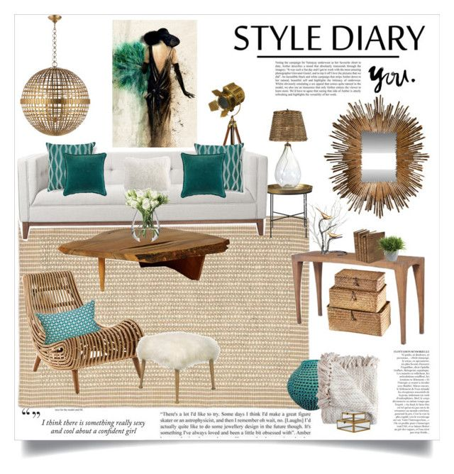 """living room design"" by lisamichele-cdxci ❤ liked on Polyvore featuring interior, interiors, interior design, home, home decor, interior decorating, Leftbank Art, AERIN, Global Views and Frontgate"