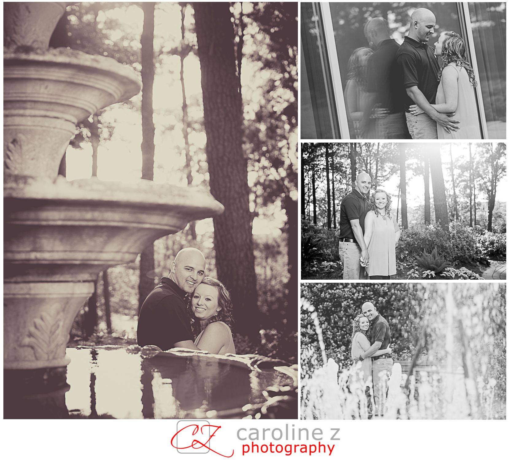Sweet #engagement session at WRAL Azalea Gardens in Raleigh.