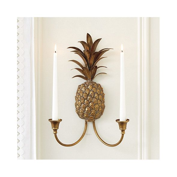 Pineapple candle sconce ballard designs