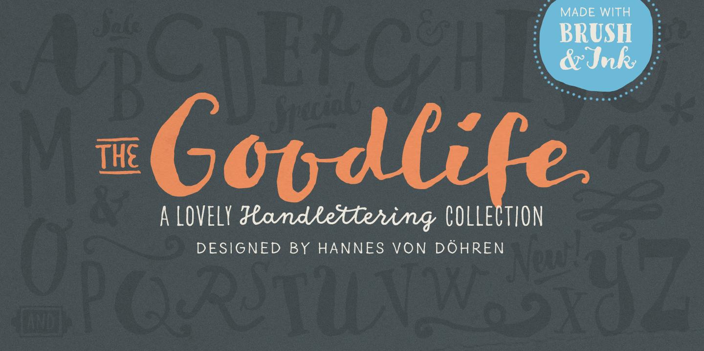 Goodlife Desktop, App and Web Fonts by HVD Fonts Hand