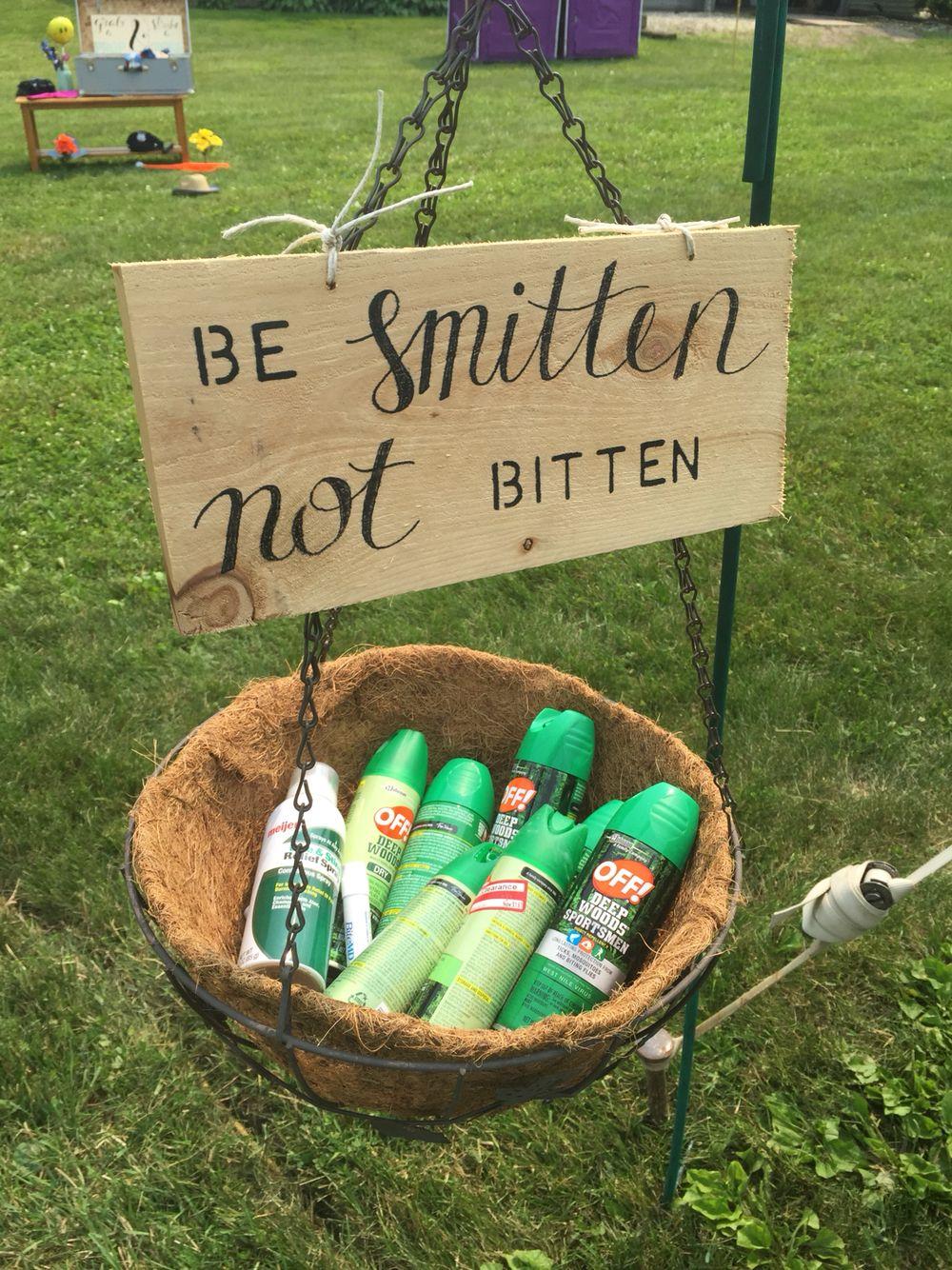 Cute Sign For Bug Spray Country Wedding Inspiration Wedding Backyard Reception Bbq Wedding
