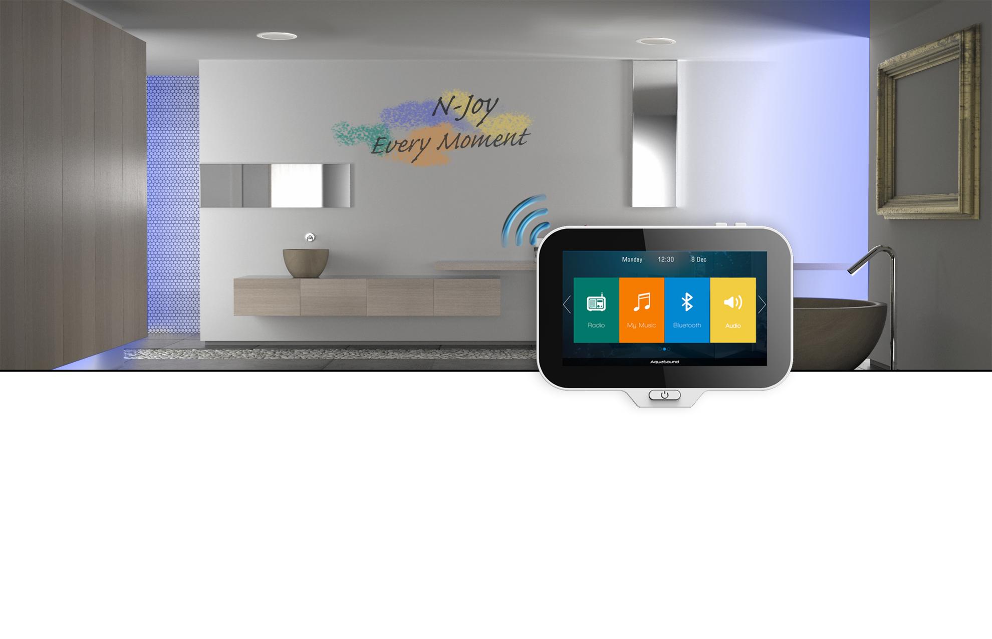 Inbouwradio Voor Badkamer : Aquasound inbouw radio systeem voor badkamer badkamer