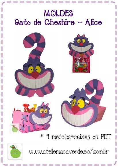 Molde/risco gato cheshire da alice - eva | Pinterest | Gato ...