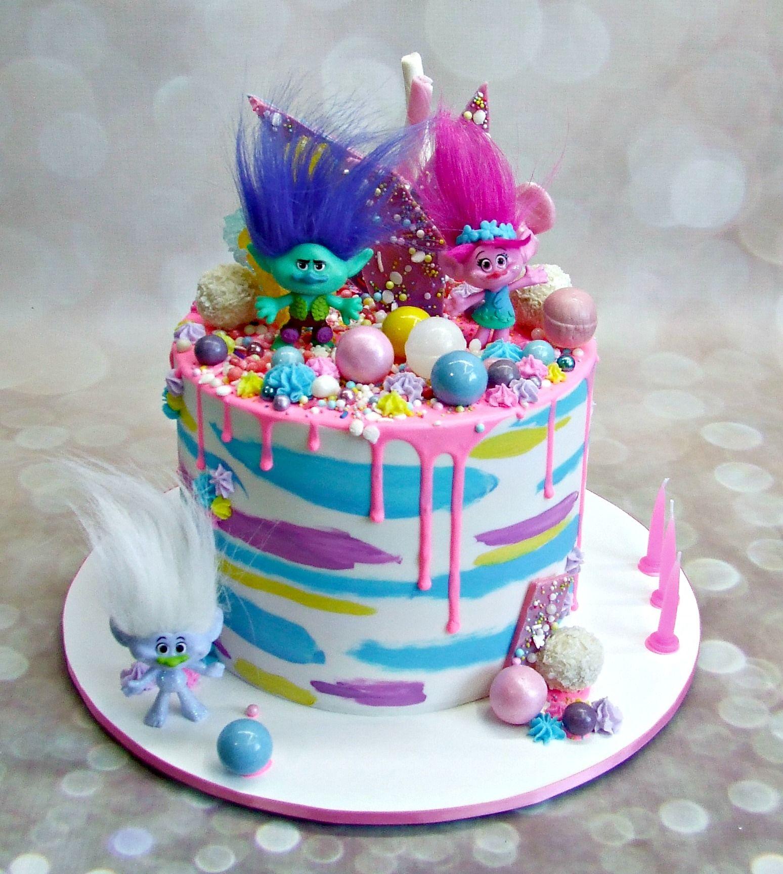 Troll Drip Cake Cute Cakes En 2019 Birthday Cake Cake