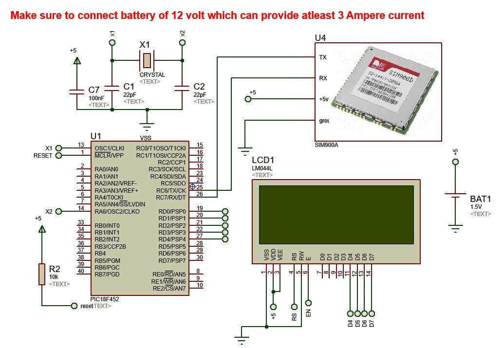 wireless electronics notice board using gsm with code in ...