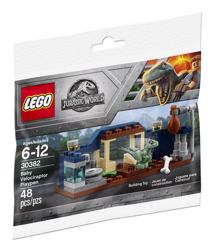 LEGO PROMO POLYBAG # 30382 JURASSIC Park WORLD Baby VELOCIRAPTOR Raptor PLAYPEN #harrypotter #harry #book #jurassicparkworld