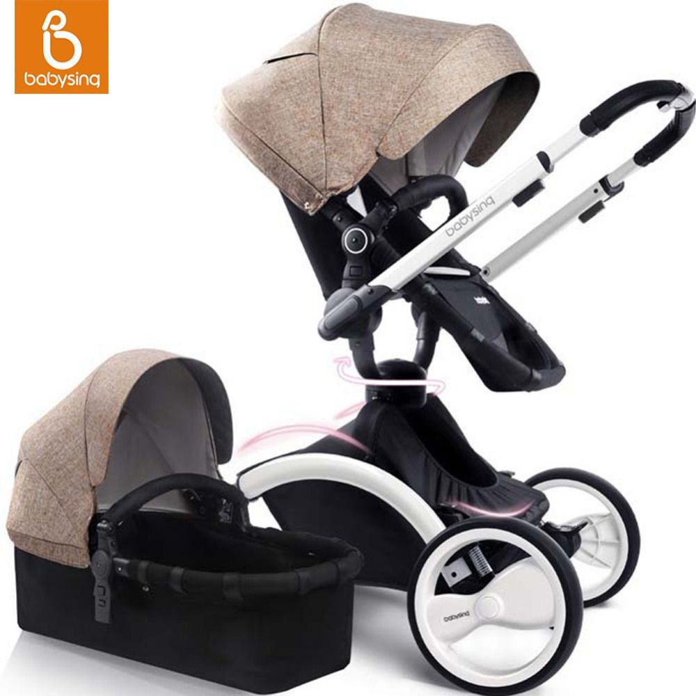 Baby bed dubizzle - Babysing 2 In 1 Baby Stroller 360 Rotation Pushchair Travel System Portable Baby Pram With