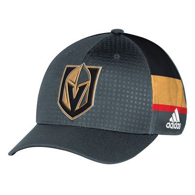 cheaper 3c0f3 3512a Men s Vegas Golden Knights adidas Black 2017 Draft Structured Flex Hat