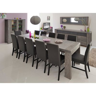 Features Modern Dining Table For 6 Persons Extendable Up To 10 Persons Chairs Are Not Included Grey Dining Tables Dining Table In Kitchen Dining Table