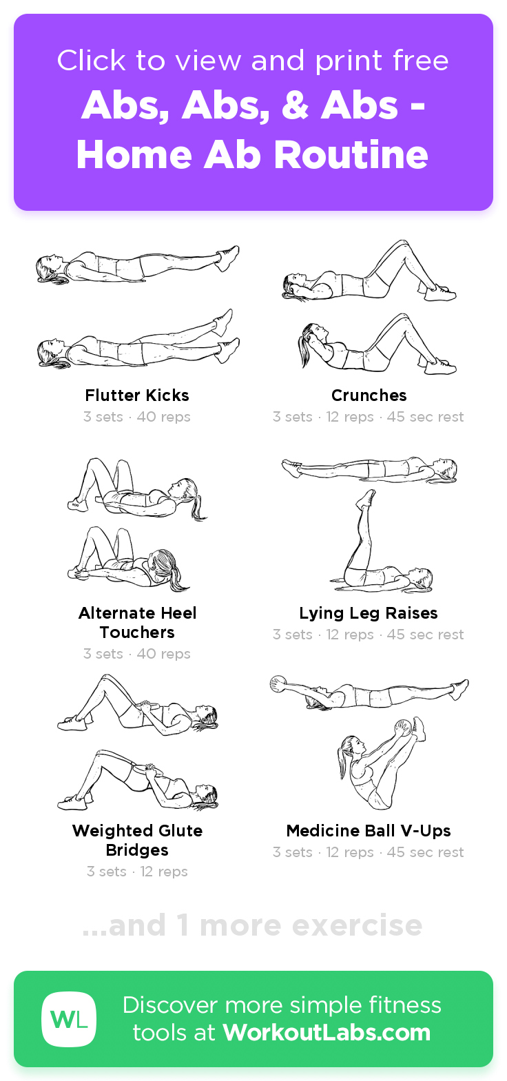 Abs, Abs, | Workout labs, At home abs, Leg and ab workout