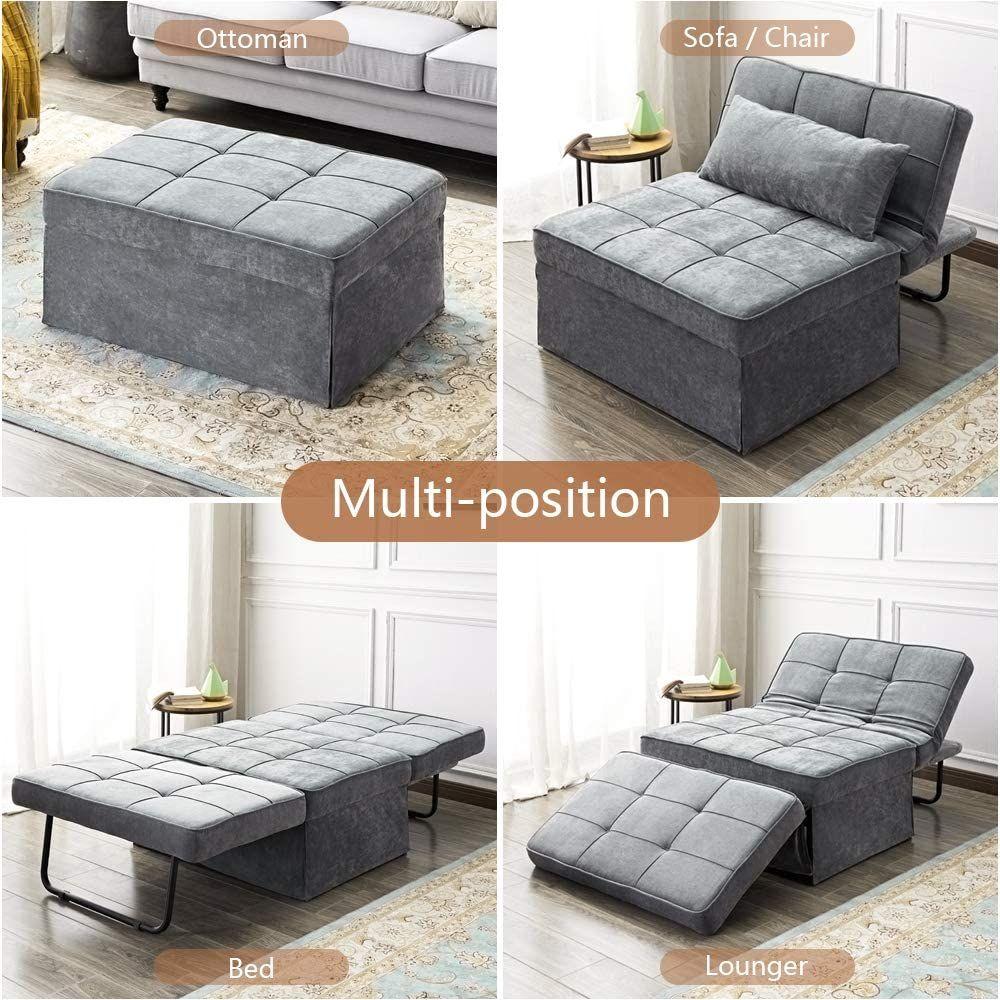 Amazon Com Vonanda Sofa Bed Convertible Chair 4 In 1 Multi Function Folding Ottoman Moder Sofa Bed For Small Spaces Beds For Small Spaces Sofa Bed Guest Room Small space ottoman fold out bed