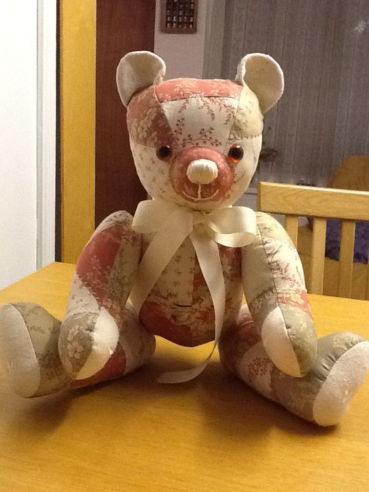 how to make a patchwork bear