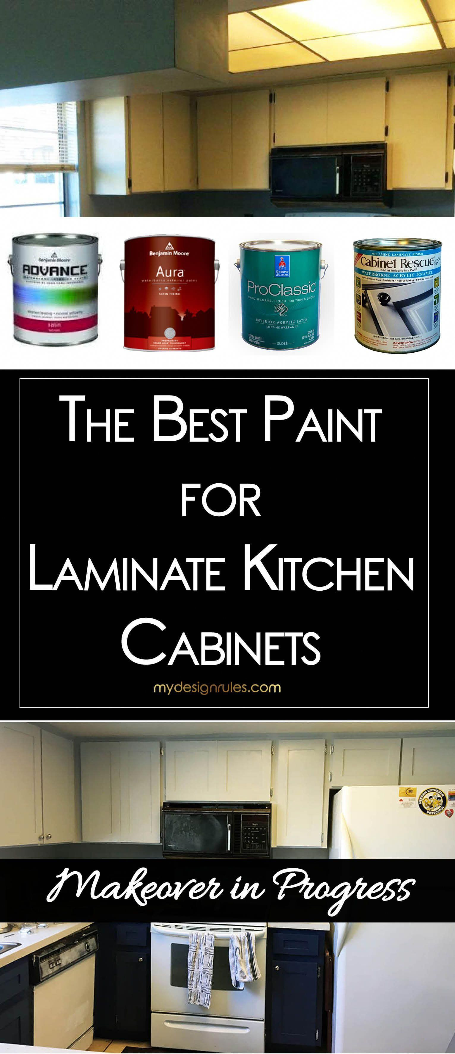 amazing and wonderful best paint kitchen cabinets | I painted my 80s laminate kitchen cabinets. Find the best ...