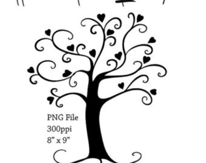 Tree ClipArt, DIY Family Tree Clip Art, Whimsical Wish