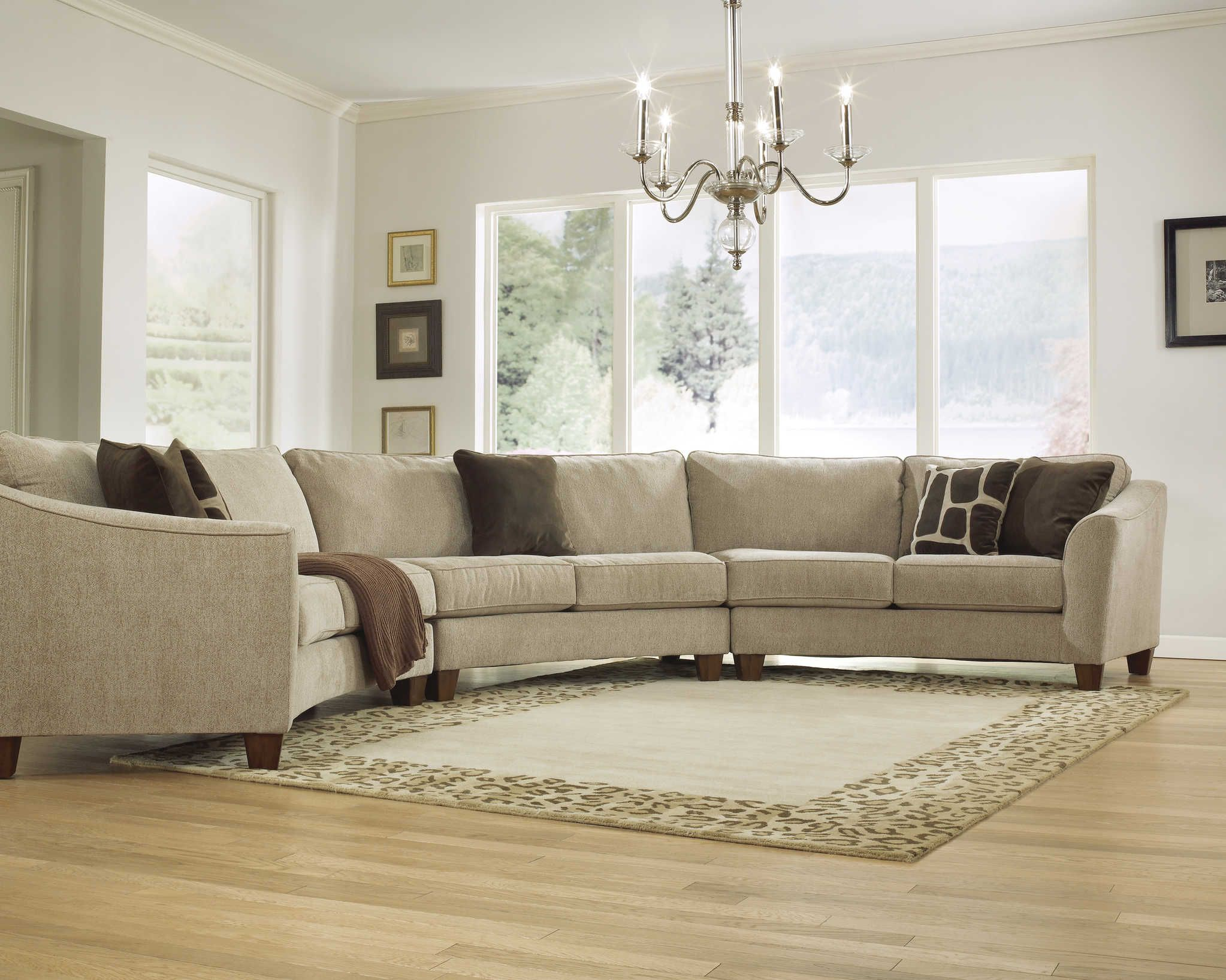 Living Room Designs With Sectionals Beauteous 2959Curvaceous Beauty  Curved Sectional Sofa Set In Classic Design Ideas