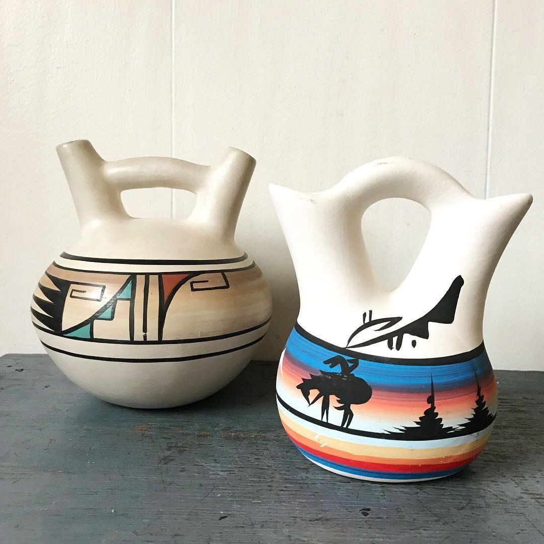 vintage Native American wedding vase Navajo Pueblo