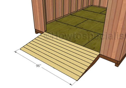 DIY Shed Ramp Plans