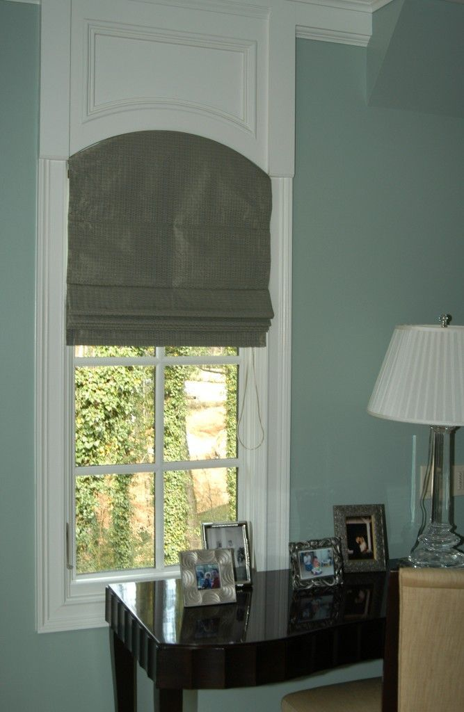 Arch Flat Roman Shade Curtains For Arched Windows