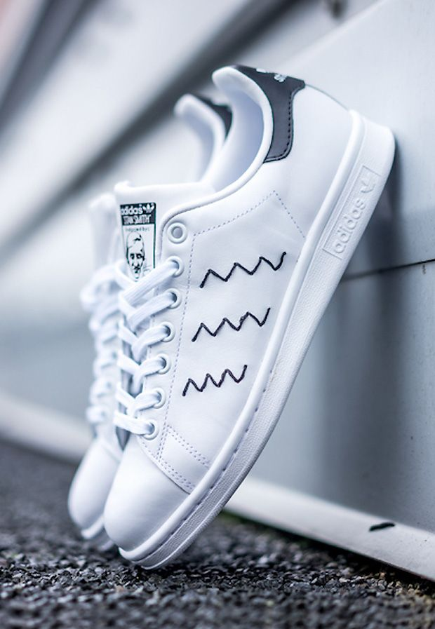 Adidas Stan Smith Black Zig Zag | Stan smith shoes