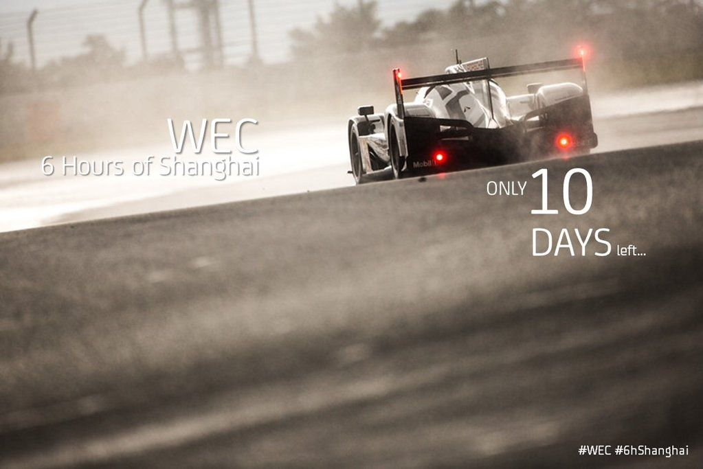 """FIA WEC on Twitter: """"The #WEC #6hShanghai final countdown has started! Only 10 days to go... https://t.co/tsyk1Y1tEv"""""""