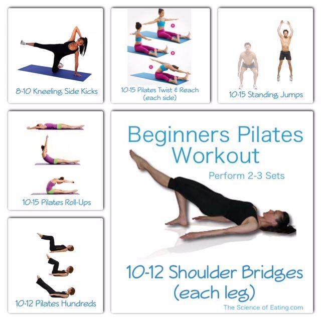 Pilates Mat Exercise Poster: Workout Beginners Pilates