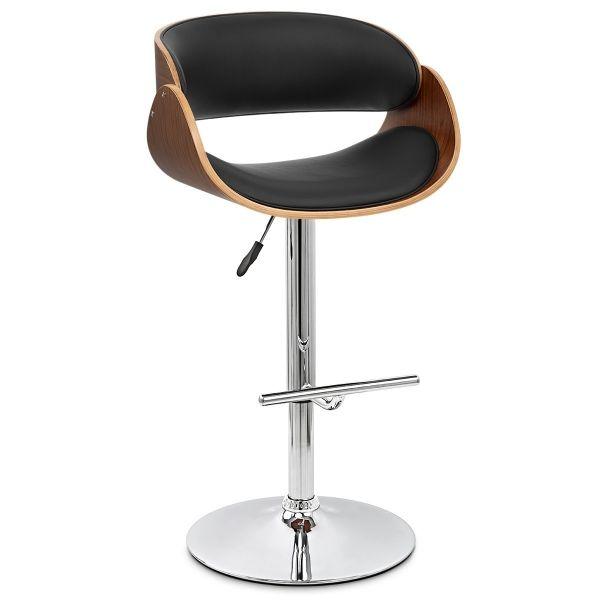 Chaise De Bar Bois Chrome Becky Tabouret De Bar Chaise Bar Chaise