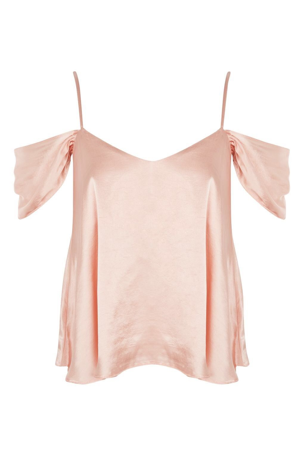 19edafe648 30.00 USD | Topshop Blush Pink Silky Satin Rouleau Cold Shoulder Camisole  Top Sz 4 | #Leggings #womens #Over50FiftyNotFrumpy #ASOS #Korean #women  #Collage ...