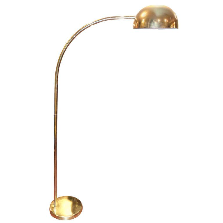 Vintage Brass Arc Floor Lamp Arc Floor Lamps Floor Lamp