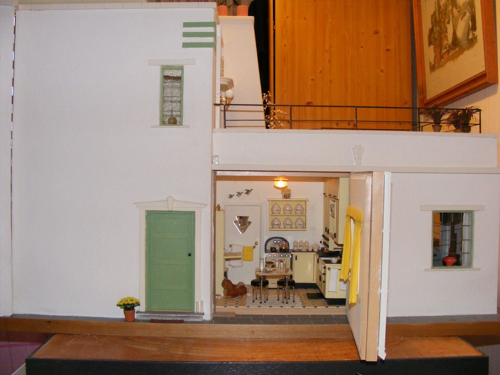 An Art Deco Dolls House Made And Furnished By Artisans By Jazz   Dollsu0027  Houses Past U0026 Present