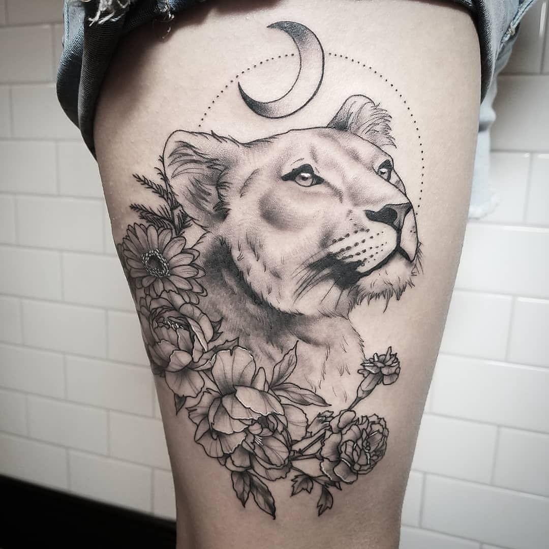 Lioness Tattoos: Tattoo Ideas And Inspiration
