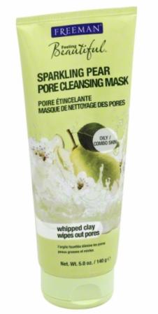Freeman Feeling Beautiful Pore Cleansing Mask, Sparkling Pear 5 oz Cream Face Scrub Gntl Stm, Desert Essence: Facial Scrub, 4 oz (2 pack) By Desert Essence