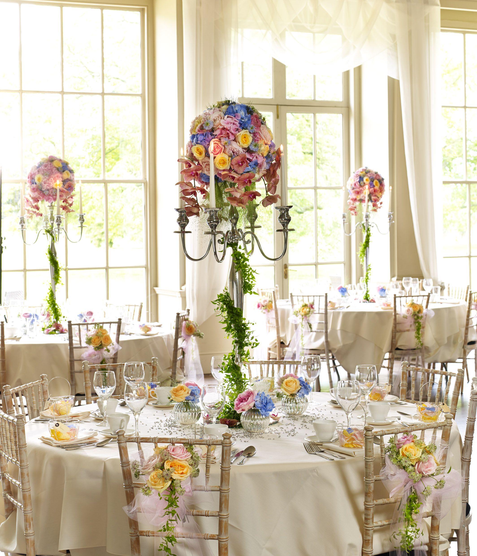Pretty Pastel Wedding Table Decoration