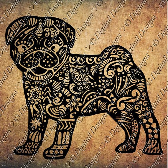 This Listing Is For The File To Create The Zentangle Pug