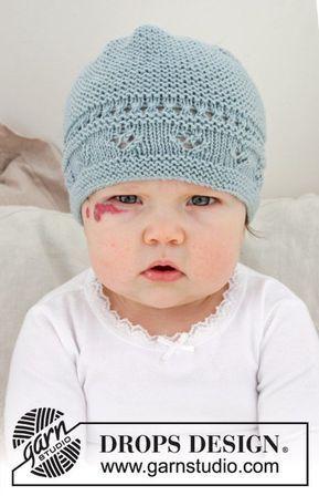 Odeta Hat / DROPS Baby 31-2 - Gestrickte Mütze für Babys mit ...