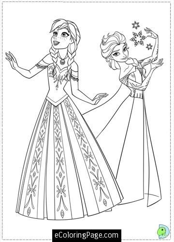 Disney Frozen Coloring Pages Elsa And Anna
