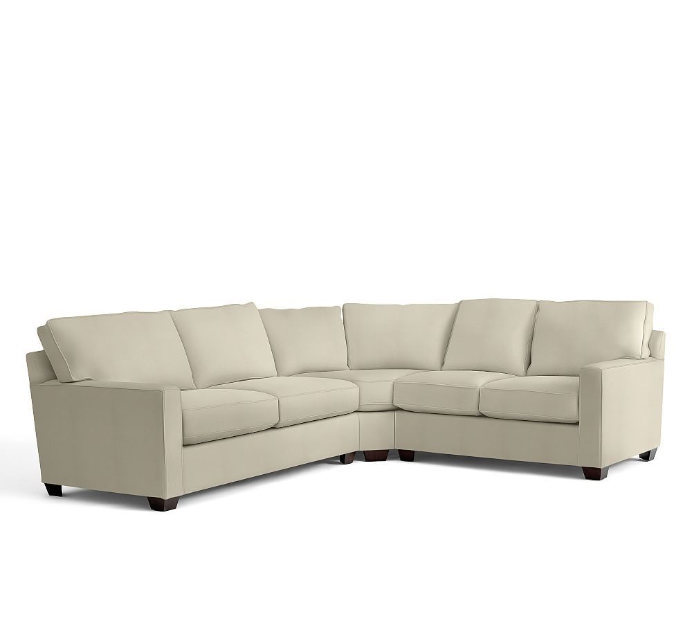 Buchanan Square Arm Upholstered 3 Piece L Shaped Sectional