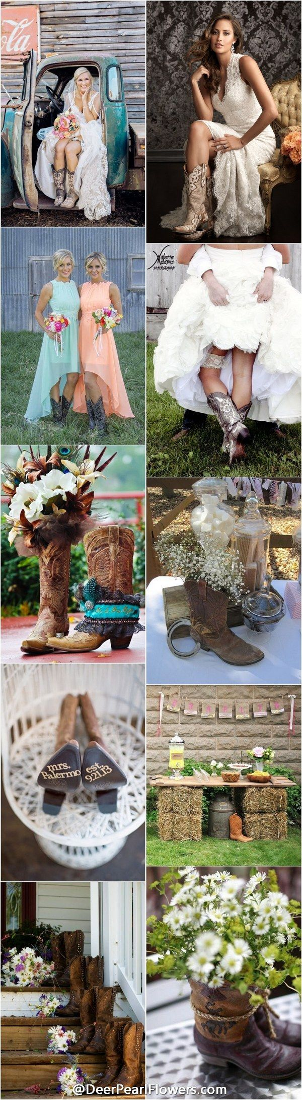 incredible Cowgirl Wedding Ideas Part - 11: 40 Rustic Country Cowgirl Boots Fall Wedding Ideas | Cool WEDDING IDEAS |  Pinterest | Wedding, Cowgirl wedding and Fall Wedding