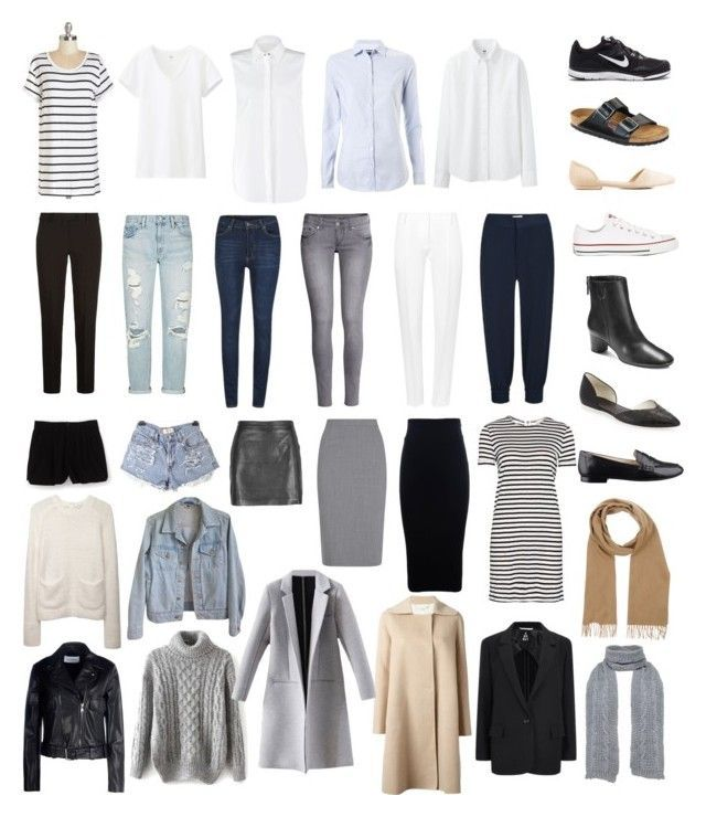 minimal + chic capsule wardrobe by jackie-perreira on Polyvore featuring Alice + Olivia, Uniqlo, Karl Lagerfeld, Tommy Hilfiger, Carven, MANTU, 2nd Day, American Apparel, Mauro Grifoni and macgraw #travelwardrobesummer