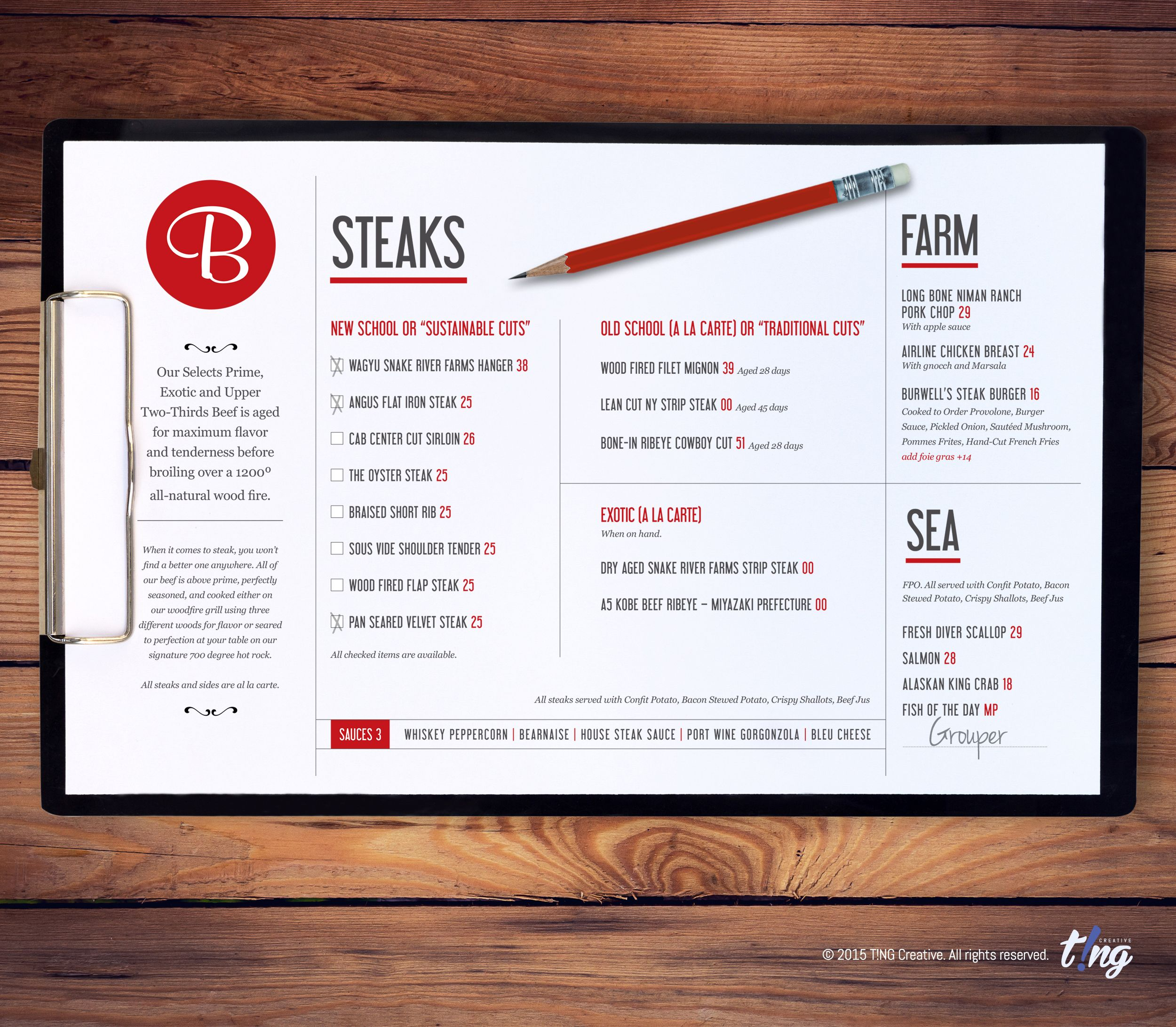 Burwell\'s Stone Fire Grill | Charleston, SC This two-page menu is a ...