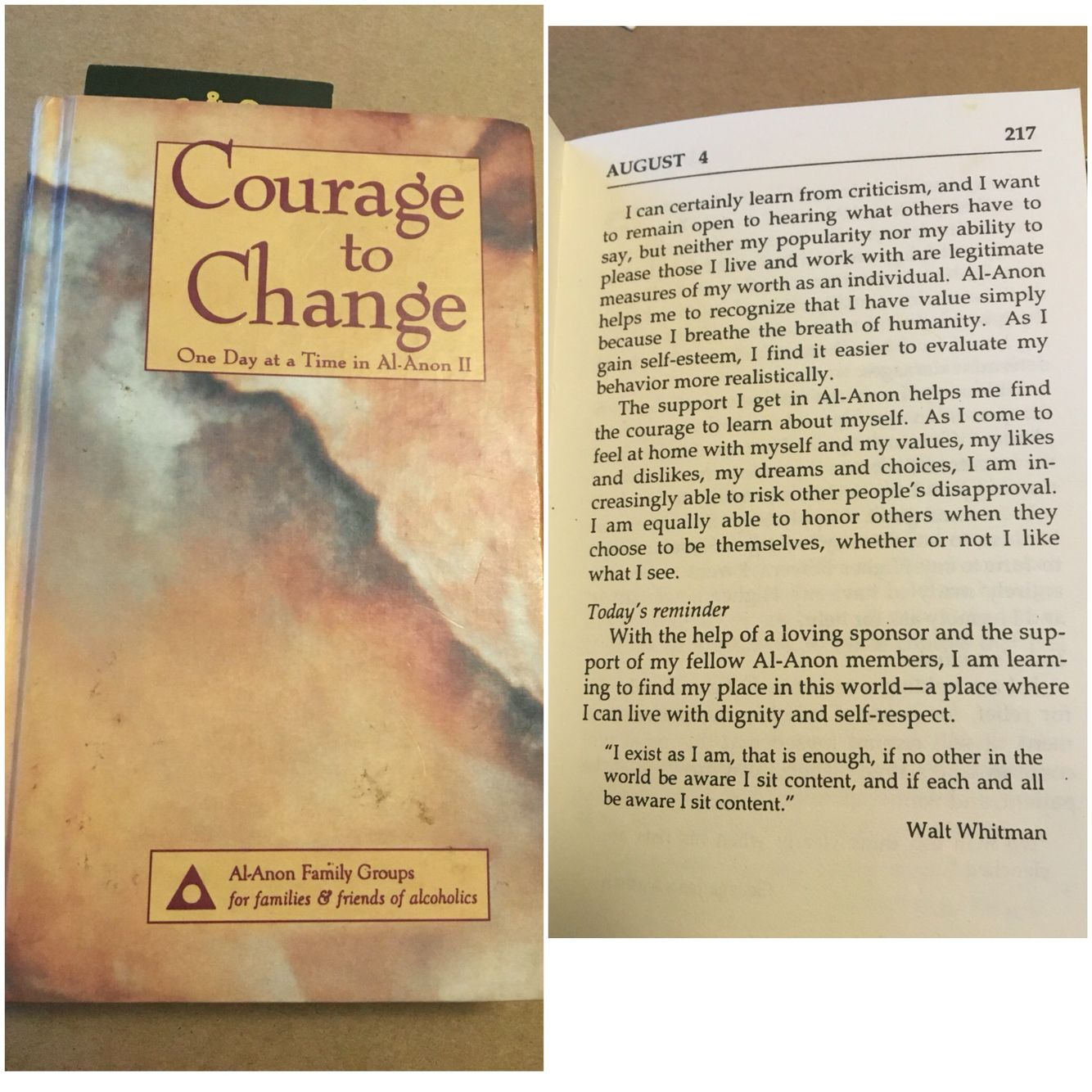 August 4th Courage To Change