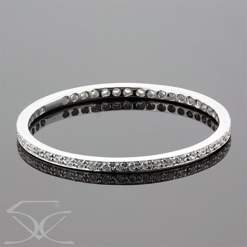 Diamonds Wedding Eternity Ring Product Id Twd Dwr452 Diamond Information Metal 18k White Gold Setting Pave Minimum Carat Weight 1 60 Cara