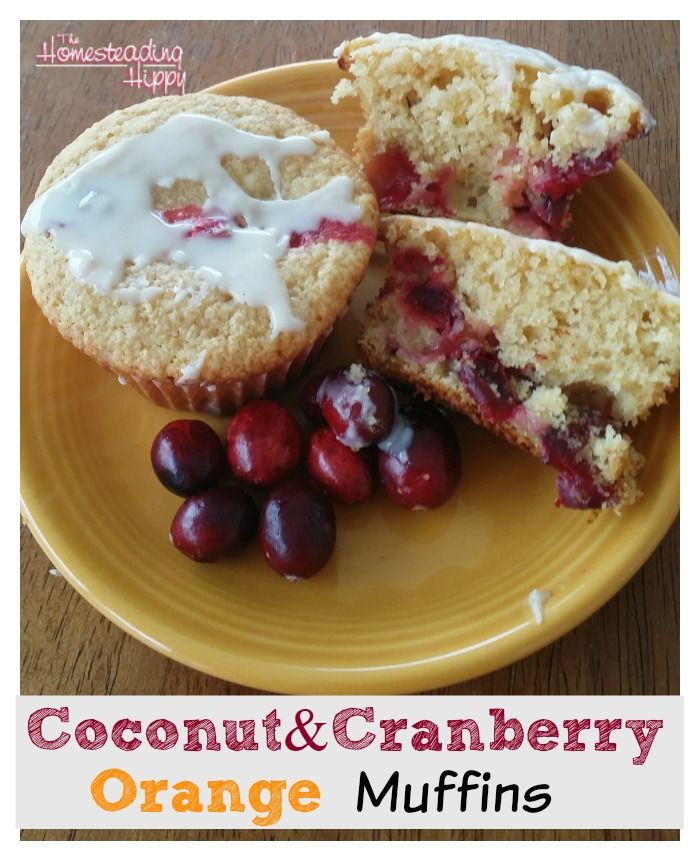 Coconut Cranberry Orange Muffins #glutenfree #grainfree #paleo