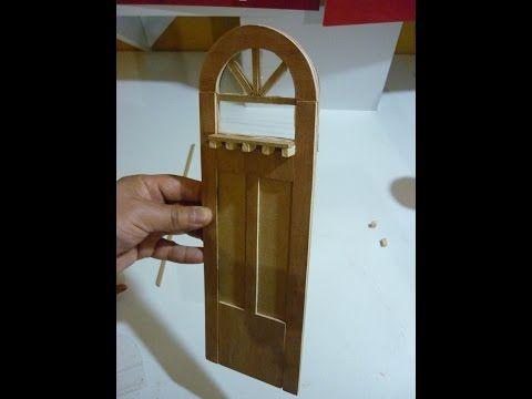 Como Hacer Una Puerta Para Casas De Munecas Youtube Cosas En