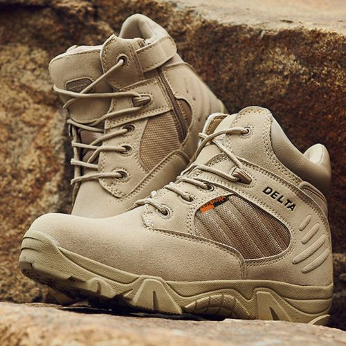 Men-Desert-Delta-Force-Military-Boots-Tactical-Airsoft-Hunting-Outdoor-Army -Tan 4f552e4485